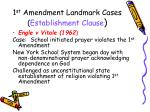 1 st amendment landmark cases establishment clause