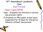 14 th amendment landmark case due process