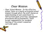 clear mission