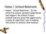 home school relations