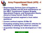 army prepositioned stock aps 4 korea