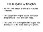 the kingdom of songhai