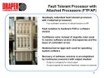 fault tolerant processor with attached processors ftp ap