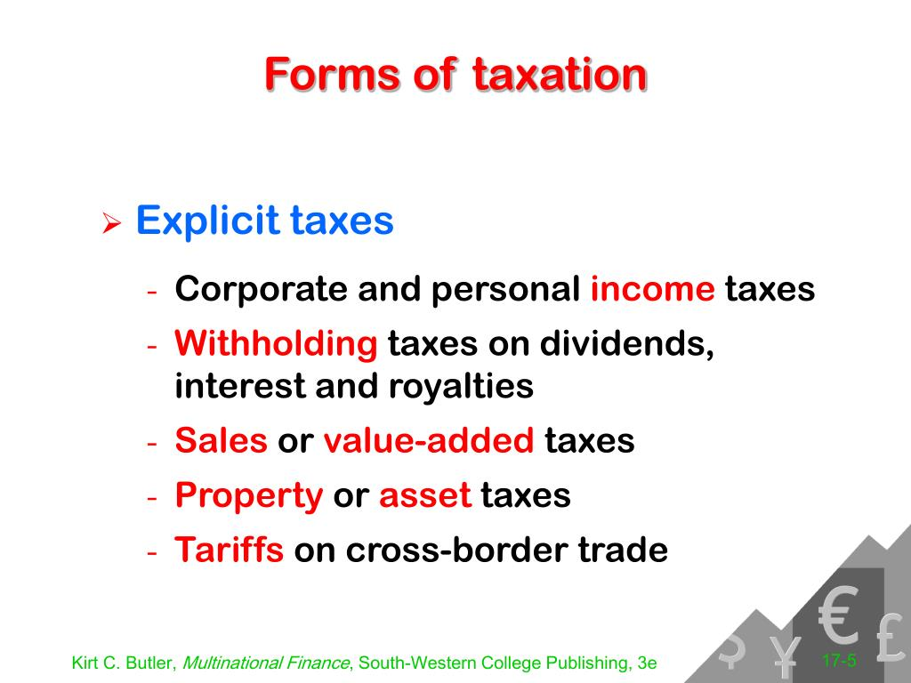 Forms of taxation