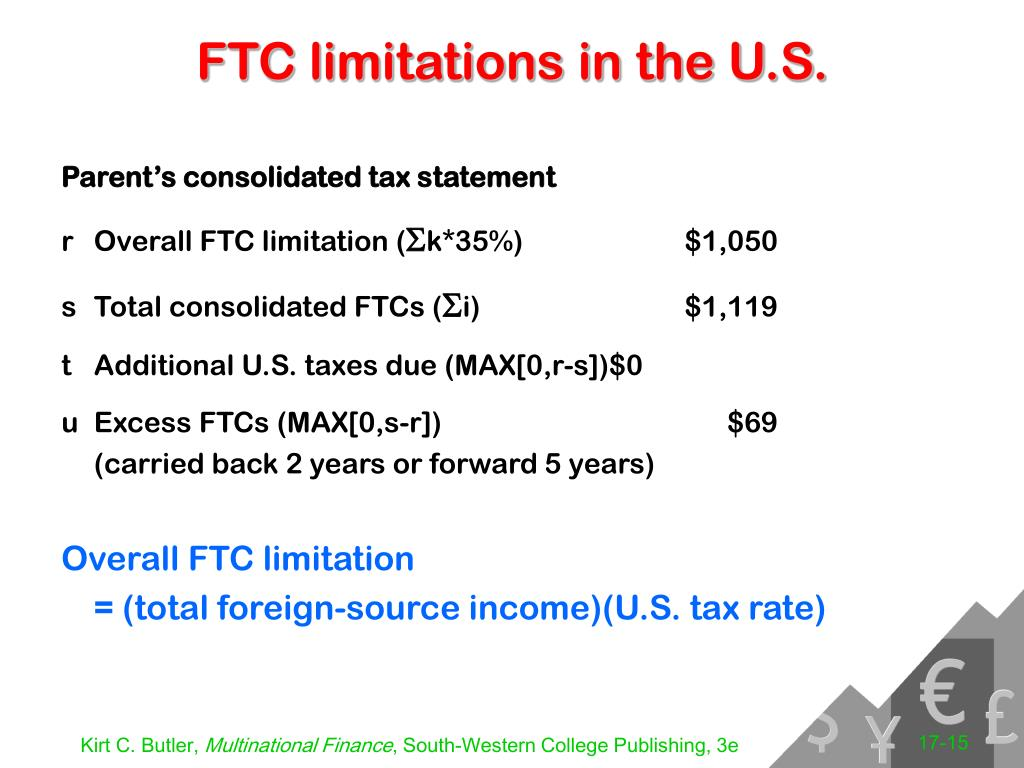 FTC limitations in the U.S.