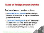 taxes on foreign source income