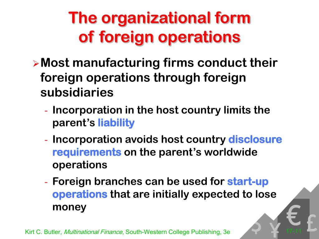 The organizational form