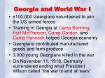 georgia and world war i