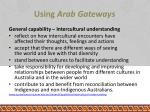 using arab gateways3