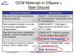 ocw materials in dspace new ground