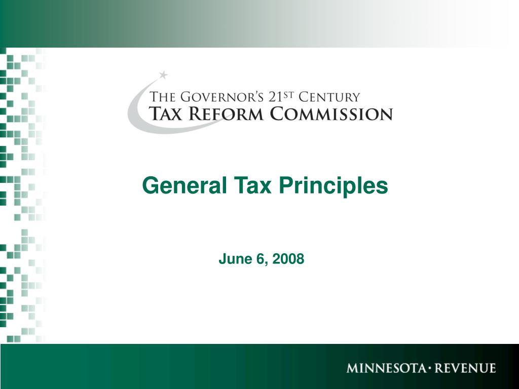 general tax principles l.