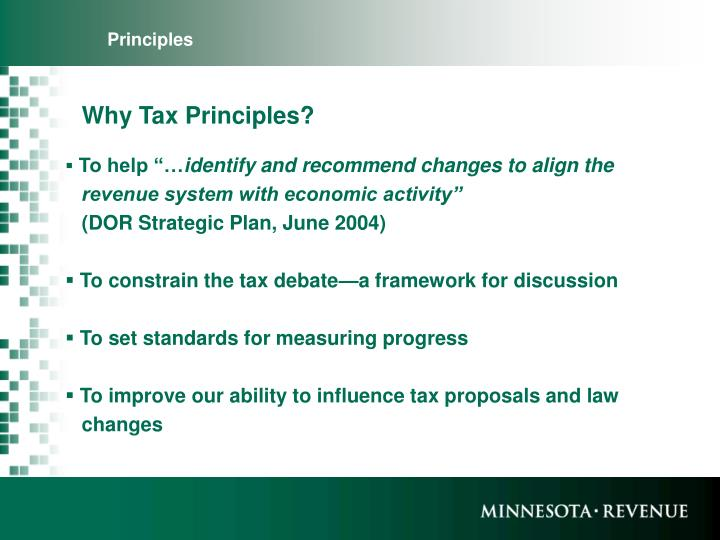 Why tax principles
