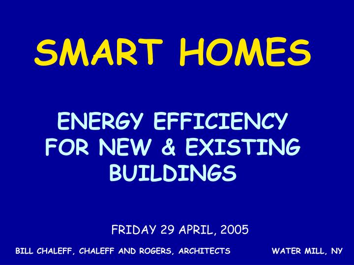 energy efficiency for new existing buildings n.