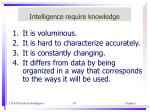 intelligence require knowledge