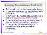 knowledge representation and search for ai