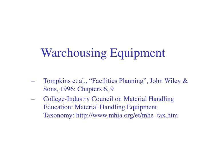 warehousing equipment n.