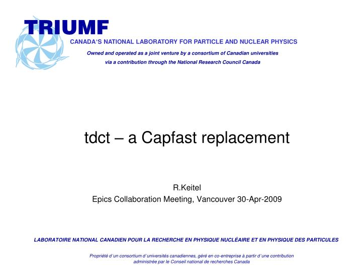 tdct a capfast replacement n.