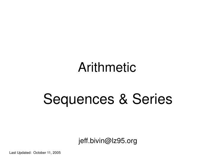 arithmetic n.