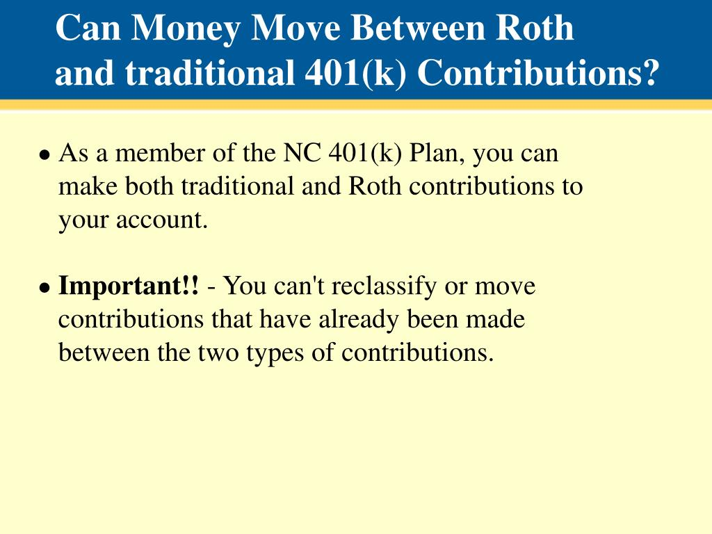 Can Money Move Between Roth