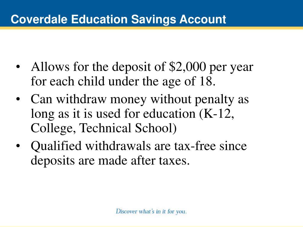Coverdale Education Savings Account