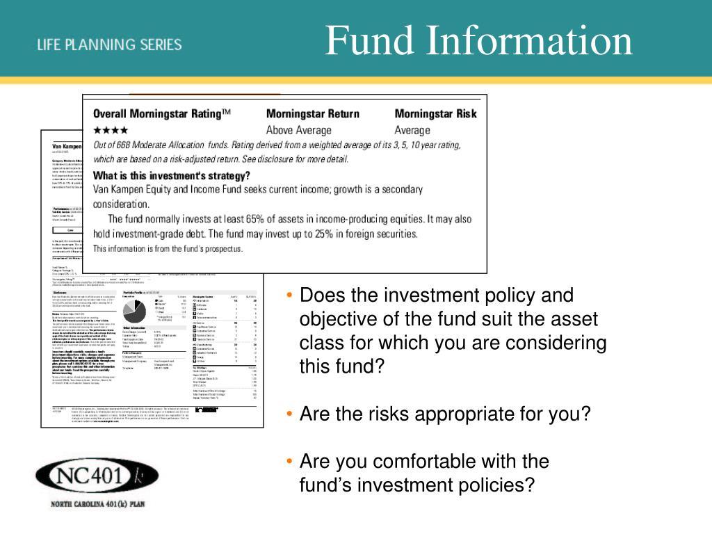 Fund Information