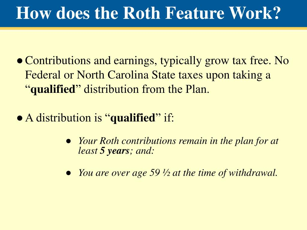 How does the Roth Feature Work?