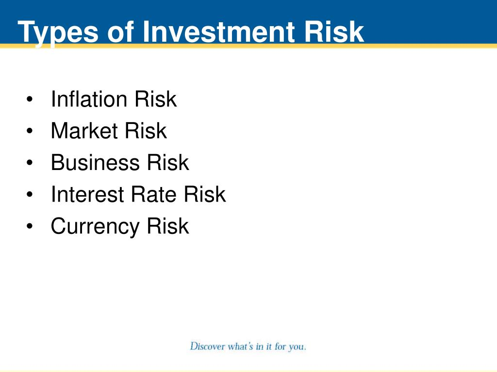Types of Investment Risk