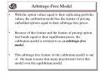 arbitrage free model