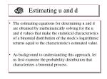 estimating u and d