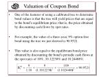 valuation of coupon bond