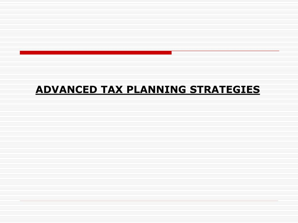 advanced tax planning strategies l.