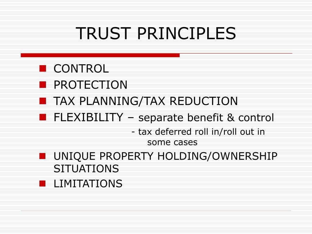 TRUST PRINCIPLES