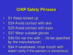 chip safety phrases