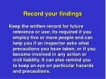 record your findings2