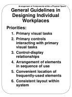 general guidelines in designing individual workplaces