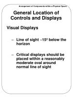 general location of controls and displays