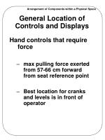 general location of controls and displays1