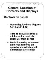 general location of controls and displays2