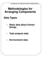 methodologies for arranging components