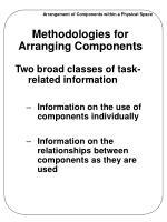 methodologies for arranging components1