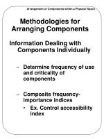 methodologies for arranging components2