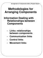 methodologies for arranging components3
