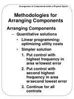 methodologies for arranging components5
