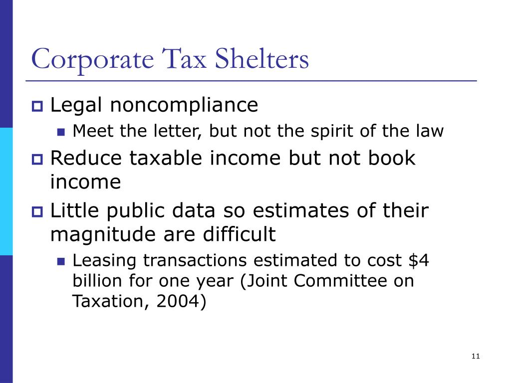 Corporate Tax Shelters