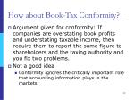 how about book tax conformity