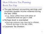 more effective tax planning book tax gap