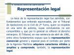representaci n legal