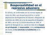 responsabilidad en el represivo aduanero