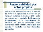 responsabilidad por actos propios