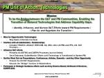 pm unit of action technologies